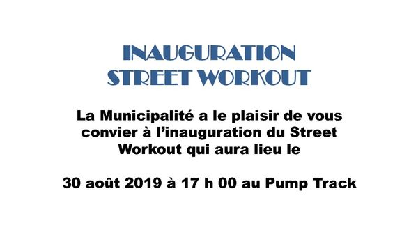 INAUGURATION STREET WORKOUT