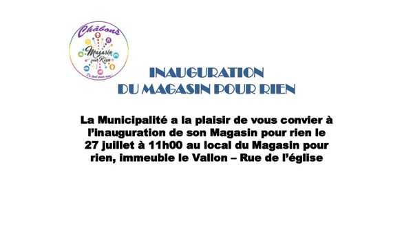 INAUGURATION MAGASIN POUR RIEN